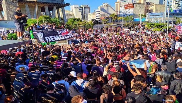 Protestan en Brasil contra el racismo y políticas de Bolsonaro
