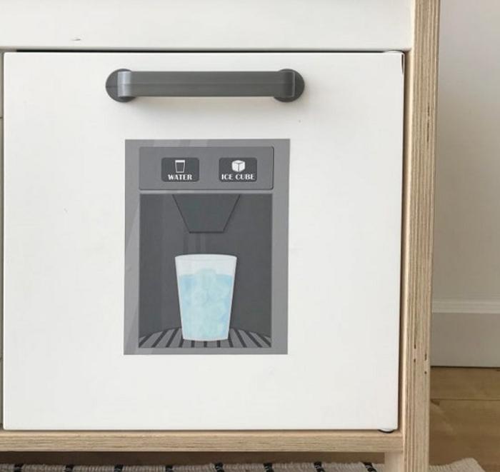 play kitchen fridge decal sticker