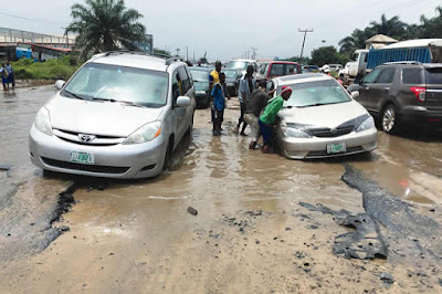 Lagos Residents Cry Out Over Suffering At Collapsed Road