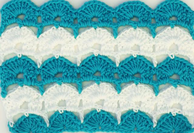 3 - Crochet Imagen Puntada de abanicos para blusas y jerseys por Majovel Crochet