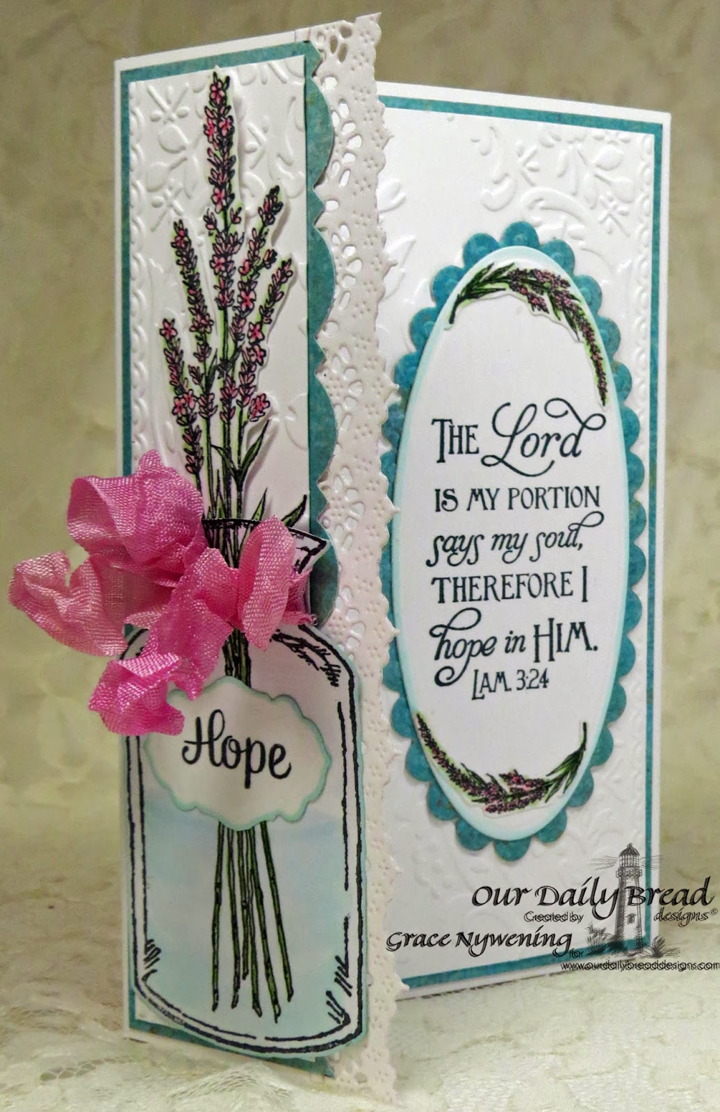 Our Daily Bread Designs, Lavender, Apothecary Bottles, Joy in a Jar, Scripture Collection 5, Grace Nywening