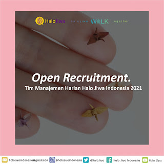 Open Recruitment: Tim Manajemen Harian Halo Jiwa Indonesia 2021
