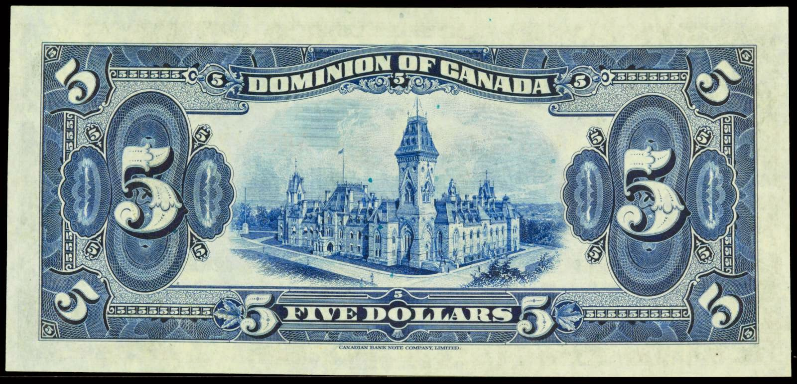 Dominion of Canada Five Dollar 1924