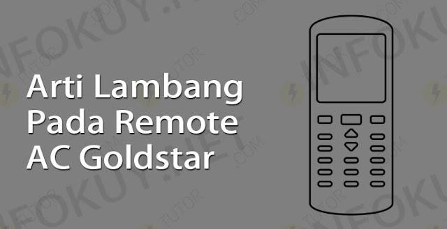 arti lambang pada remote ac goldstar