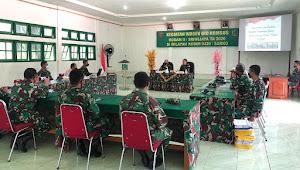 Kodim 0420/Sarko Menerima Kunjungan Tim Wasev Kodam II/Sriwijaya
