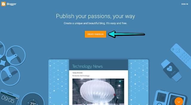 mendaftarkan akun blogger