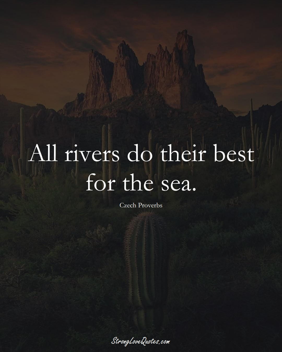 All rivers do their best for the sea. (Czech Sayings);  #EuropeanSayings