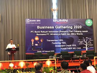 Wakil Pimpinan Wilayah Kantor BRI Secara Resmi Membuka Gelar Business Gathering Bersama PT WKS Beserta Mitra Kerja .
