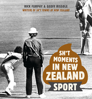 Sh*t Moments in New Zealand Sport by Rick Furphy & Geoff Rissole book cover
