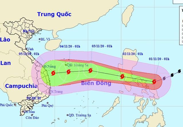 Siêu bão Goni giữ nguyên cường độ, tiếp tục hướng vào Biển Đông
