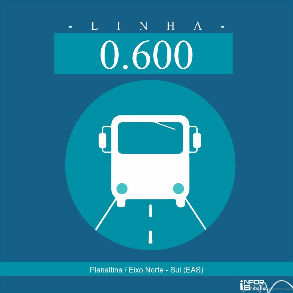 Horário de ônibus e itinerário 0.600 - Planaltina / Eixo Norte - Sul (EAS)