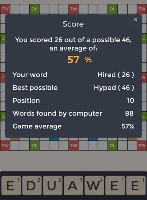 Screenshot of the Word Master Challenge