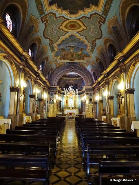 Vista do interior da Igreja Santa Cruz das Almas dos Enforcados - Liberdade - São Paulo