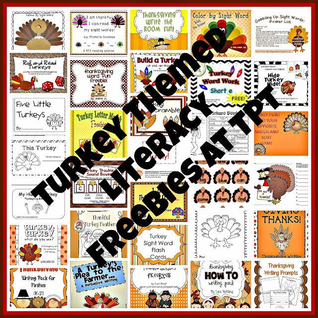Turkey Themed Literacy Freebies