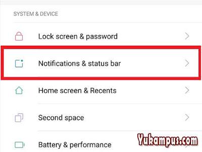 cara menampilkan notifikasi kecepatan inernet xiaomi