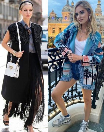 5 Tendências de moda para apostar, franjas Leonie Hanne, Chiara Ferragni