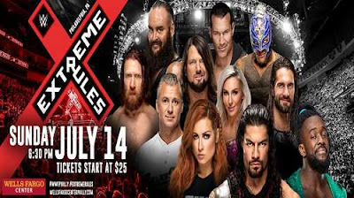 Poster Of WWE Extreme Rules 14th July 2019 HDTV 480P 300MB