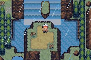 Pokemon Lost Treasure para GBA Eventos Climaticos Lluvia