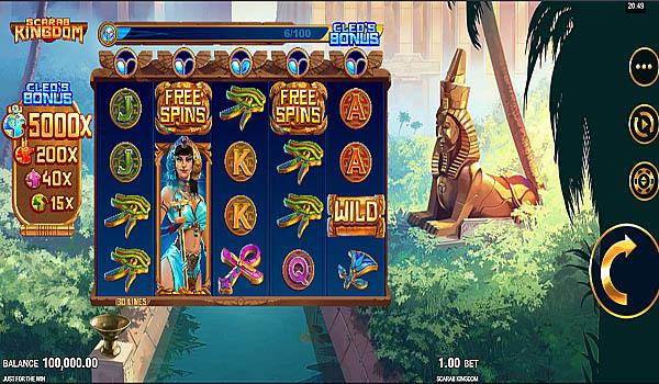 Main Gratis Slot Indonesia - Scarab Kingdom Microgaming