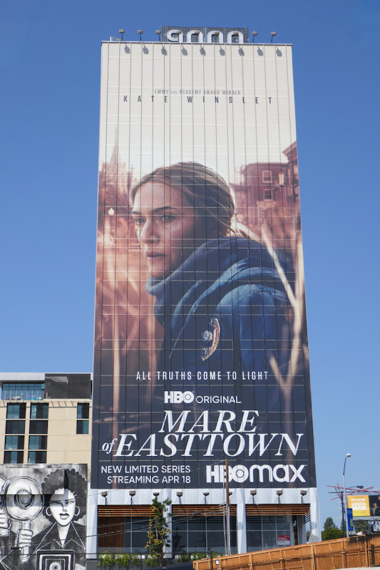 Giant Kate Winslet Mare of Easttown billboard