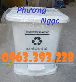 Thùng đựng rác thải y tế 25L, thùng rác y tế đạp chân 25L, thùng rác nhựa 476b588455eab3b4eafb