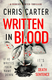 Written In Blood by Chris Carter book cover