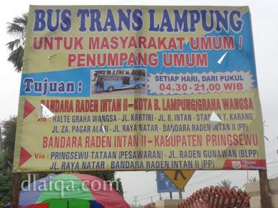 rute bus Trans Lampung