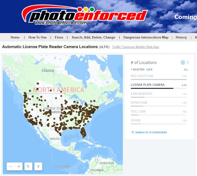 Automatic License Plate Recognition cameras map