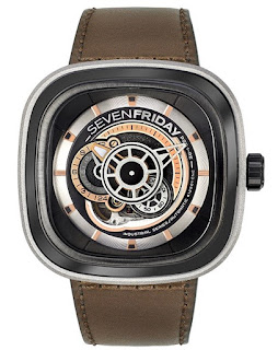 SEVENFRIDAY P2B/01 P-Series Automatic Brown Leather Strap