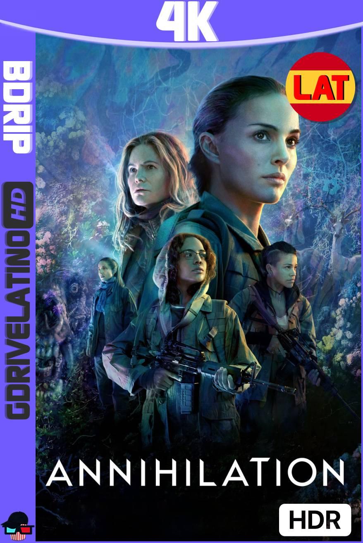 Aniquilación (2018) BDRip 4K HDR Latino-Ingles MKV
