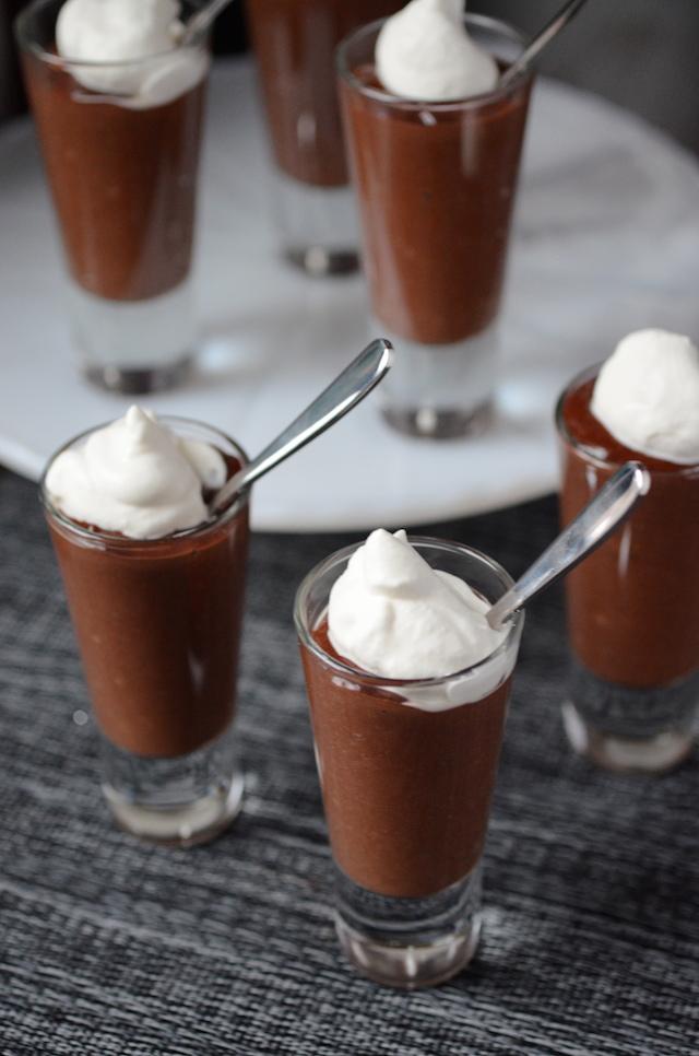 Dark Chocolate Pudding Shooters Always Order Dessert