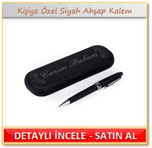 Kişiye Özel Siyah Ahşap Kalem