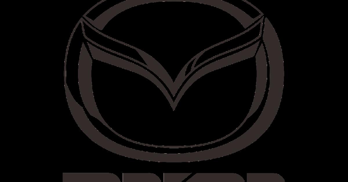 mazda logo vector (part-2) black-white (automaker company)~ format