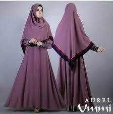 Model Gamis Muslim Brokat Syahrini Terbaru