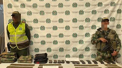 Localizan material de guerra perteneciente al frente Cacique Calarcá del eln en inmediaciones del municipio de Tado en un operativo conjunto de la policía y el ejército