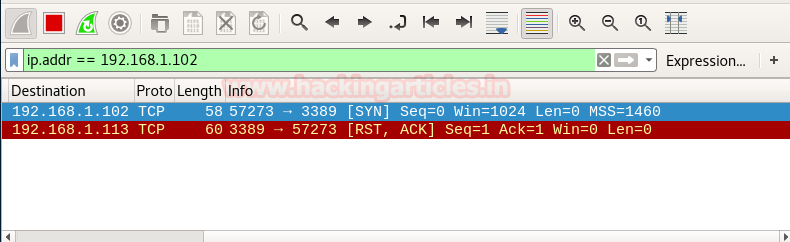 Understanding Nmap Scan with Wireshark