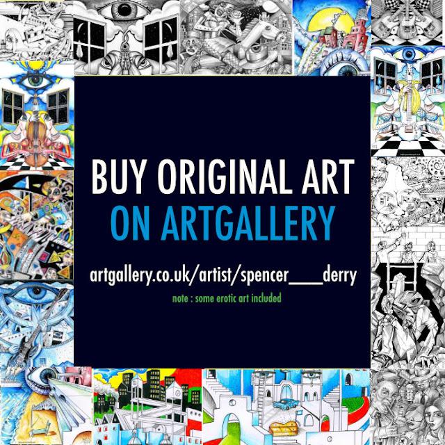 Art For Sale Surrealism, erotic Art, landscapes, outsider art https://www.artgallery.co.uk/artist/spencer___derry