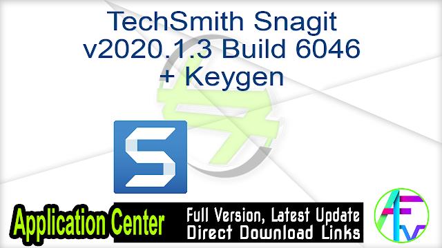 TechSmith Snagit v2020.1.3 Build 6046 + Keygen