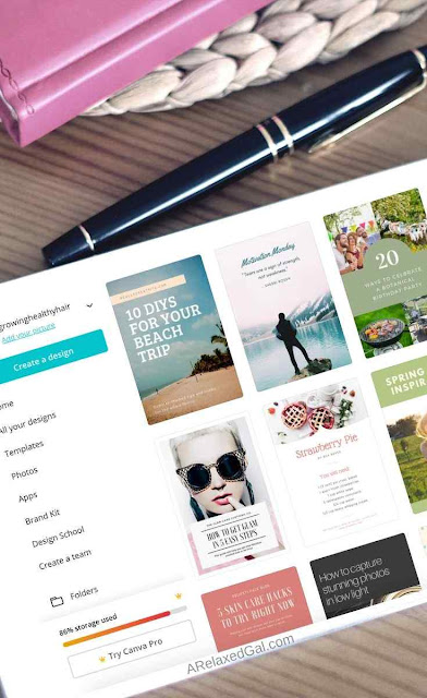 How To Use Canva To Create Gorgeous Blog Graphics | A Relaxed Gal