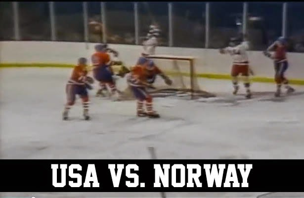 Lake Placid 1980 Olympic Winter Games Miracle on Ice USA vs. Norway