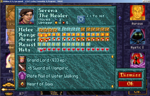 Serena Hero from Master of Magic game screenshot