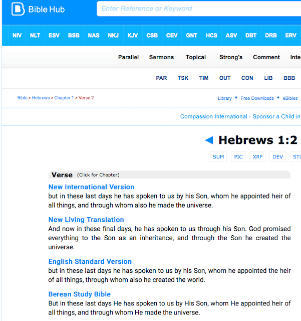 FALSE Trinitarian translation of Hebrews 1:2. 1.