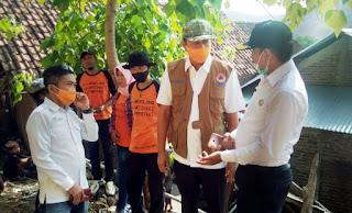Kalak BPBD Tinjau Rumah Korban Batu Ambrol di Jatiwangi