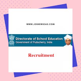 Puducherry School Education Recruitment 2019 for Teachers (315 Vacancies) LD: 22-07-2019