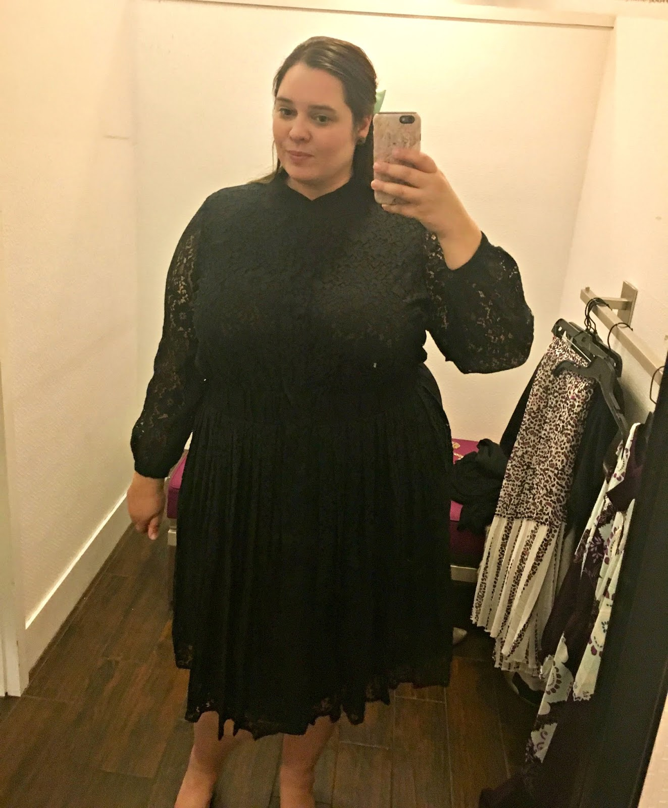 869dd107dda The pleated lace black dress had a nice fit and I like how instead of a  plain elastic waist it had a faux belt look. I think this dress would look  waaaaay ...