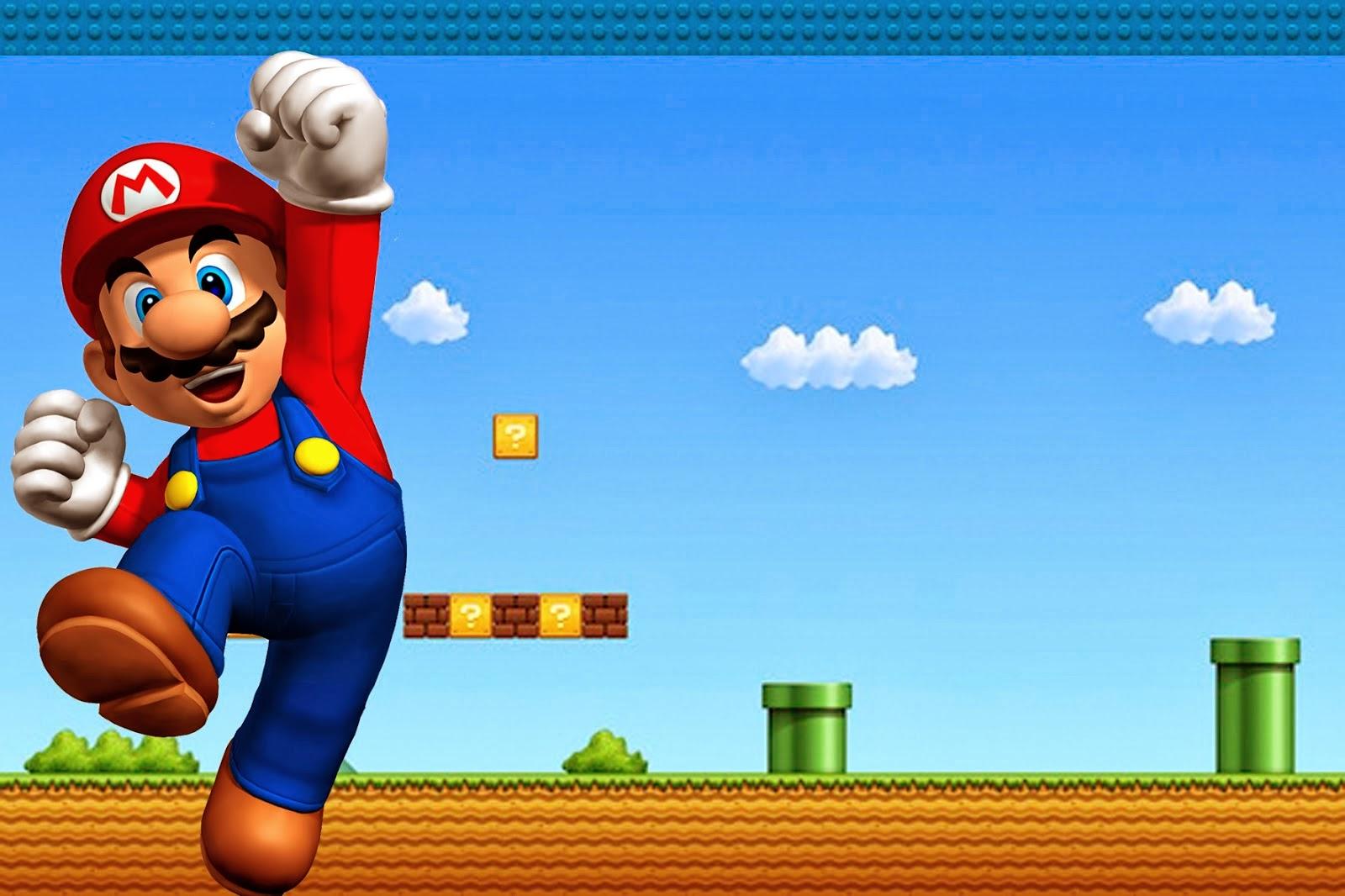 Super Mario Bros: Imprimibles, Invitaciones y Tarjetas Gratis ...