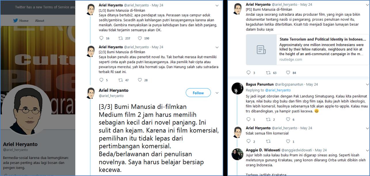 Kata Prof. Ariel Heryanto tentang Film Bumi Manusia