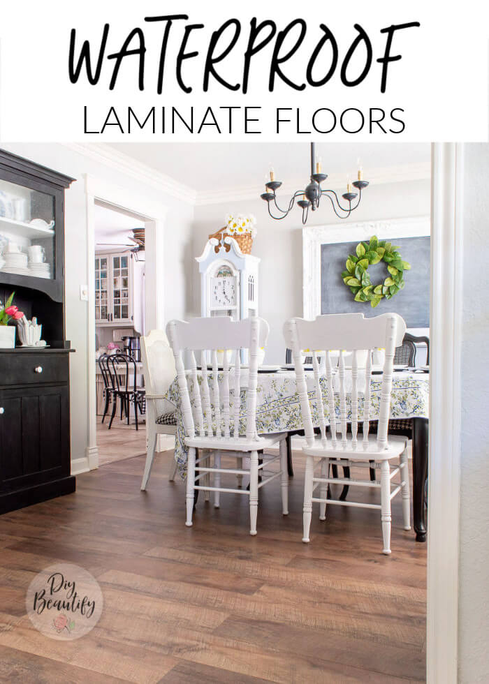 dining room with farmhouse floors