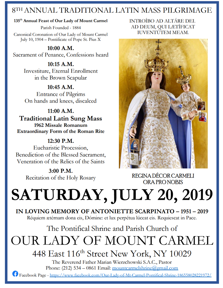 New Liturgical Movement: Patronal Feast of Our Lady of Mt ...