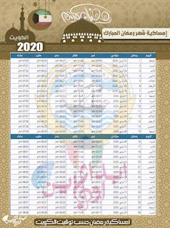 imsakiah-Ramadan-Kuwait-1441